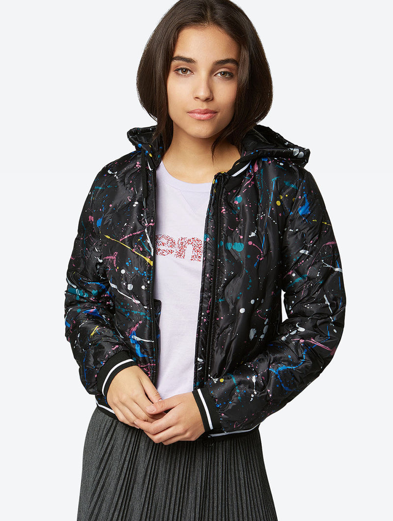 Down Jacket with Colourful Pattern