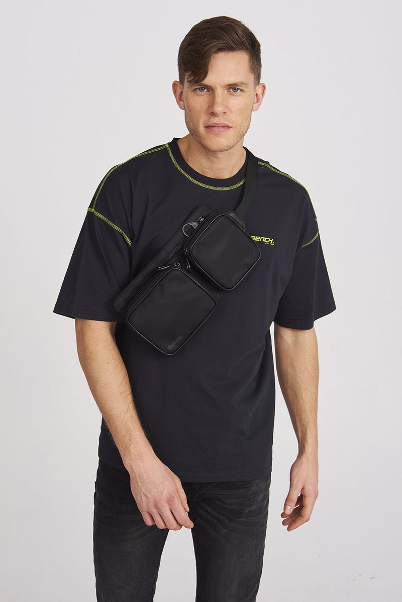 Men's FLAT FANNY PACK WITH CONTRAST - Bench
