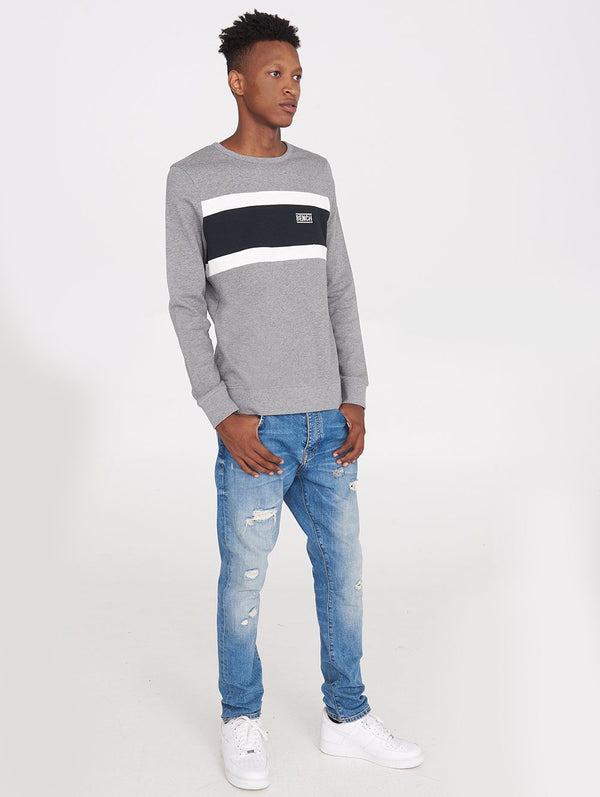 Men's BENCH CREW NECK W/CHEST STRIPE - Bench