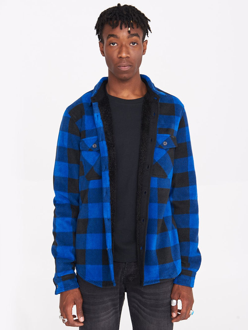 Men's CHECK SHIRT WITH SHERPA - Bench