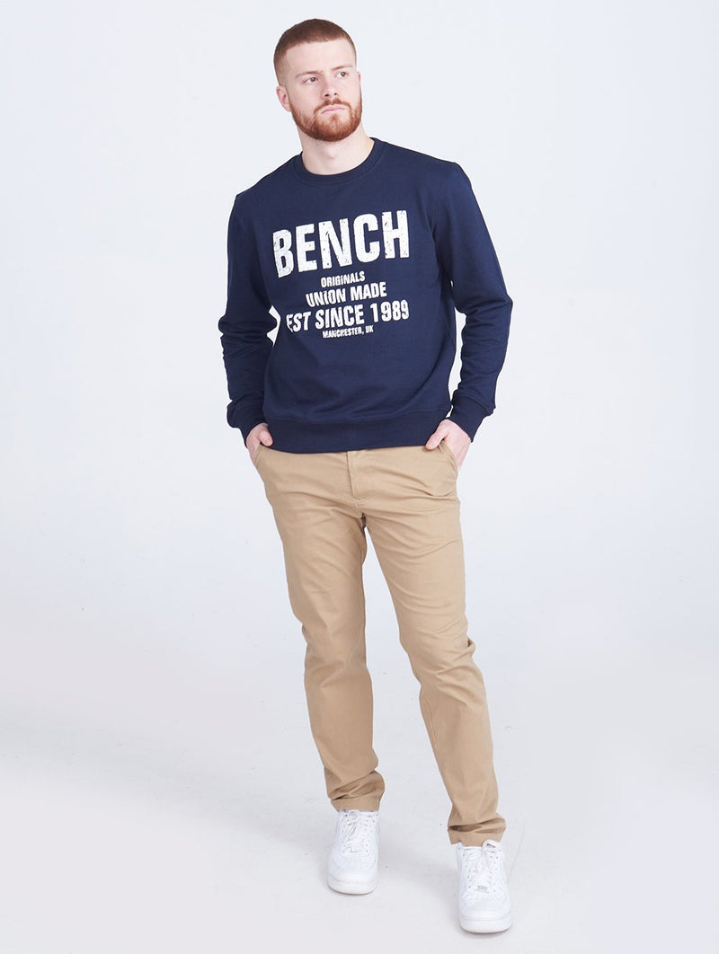 Men's MENS CREW NECK L/S SWEATSHIRT - Bench