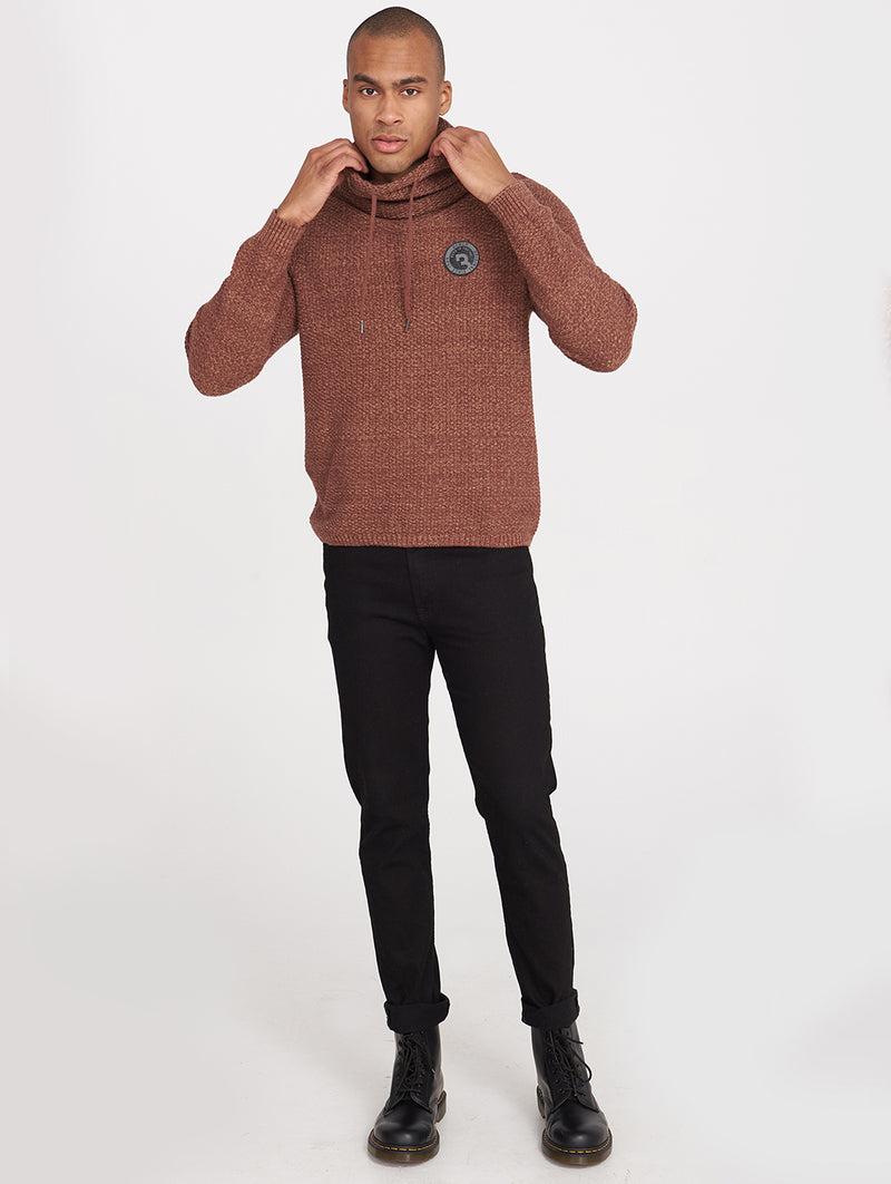 Men's JULIEN FUNNEL NECK SWEATER - Bench