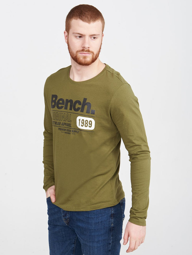 Men's CREW NECK L/S TEE - Bench