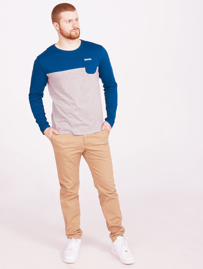 Mens Crew Neck L/S Tee Colorbl - Bench Canada