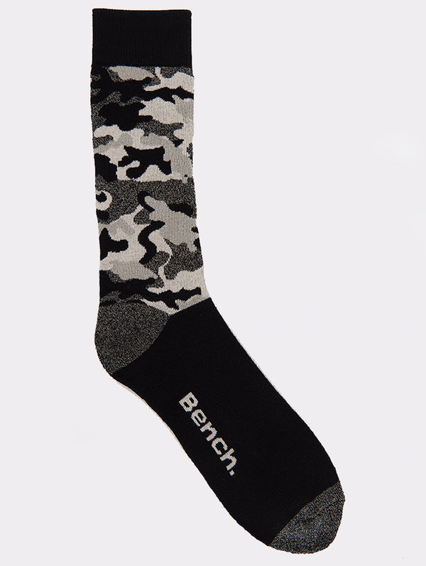 Mens 2 Pk Camo Crew Socks