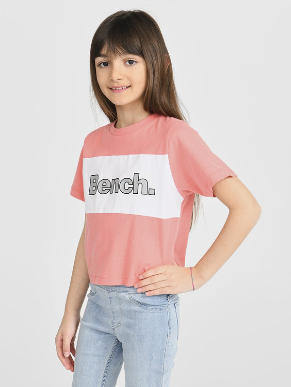 Girls's CROP TEE WITH INSERT - Bench