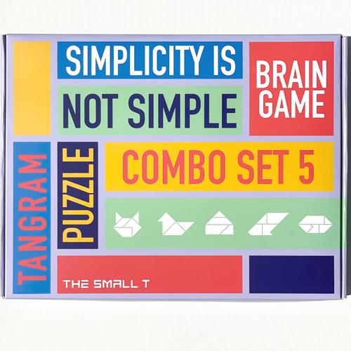 Brain Teaser Puzzle -  Combo Set of 5