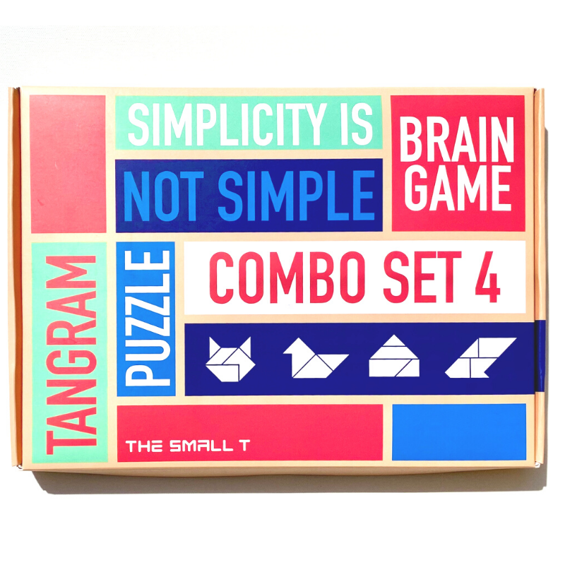 Brain Teaser Puzzle -  Combo Set of 4