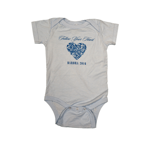 Follow Your Heart Light Blue Onesie