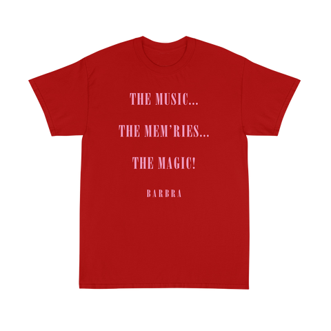 Music, Mem'ries, Magic T-Shirt - Red