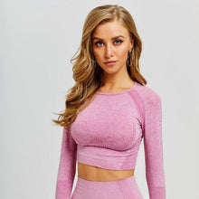 Load image into Gallery viewer, Gradient Long Sleeve Crop Top