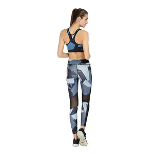 Abstract Print 2 Pieces Workout Set