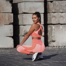 Load image into Gallery viewer, Pink Peach Fitness Suit