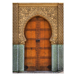 Load image into Gallery viewer, Moroccan Door Wall Architecture  Art Gold Canvas Panting 🎁