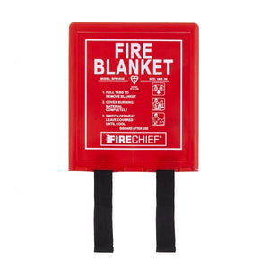 Firechief 1 x 1m Fire Blanket, Rigid Case