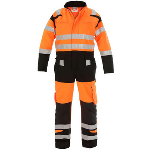 Hove High Visibility Two Tone Coverall Orange / Black