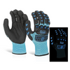 Glovezilla Glow In The Dark Foam Nitrile Glove Blue