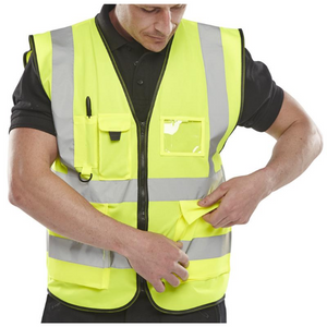 Executive Hi Viz Waistcoat Saturn Yellow