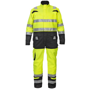 Hove High Visibility Two Tone Coverall Saturnyellow/black