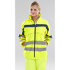 Eton Hi-viz Soft Shell Jacket Saturn Yellow / Navy