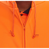 Zip-up Hooded Sweatshirt Orange