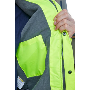 Hi Vis Fleece Lined Bomber Jacket Saturn Yellow