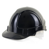 Economy Vented Safety Helmet Black