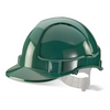 Economy Vented Safety Helmet Green