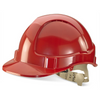 Comfort Vented Safety Helmet Red