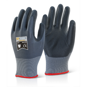 Nitrile PU Mix Coated Glove Black/Grey