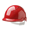 Concept Reduced Peak Vented Safety Helmet Red