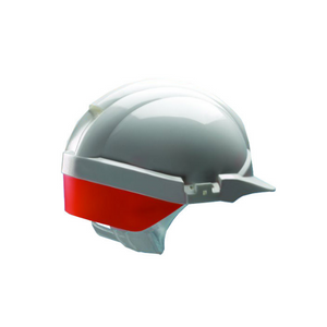 Reflex Safety Helmet White C/W Orange Rear Flash White