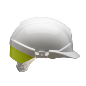 Reflex Safety Helmet White C/W Yellow Rear Flash White