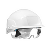 Spectrum Safety Helmet White C/w Integrated Eye Protection White