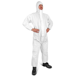 White Disposable Coverall