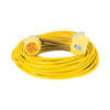 25M Extension Lead - 16A 1.5mm Cable - Yellow 110V