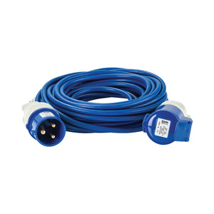 14M Extension Lead - 32A 2.5mm Cable - Blue 240V