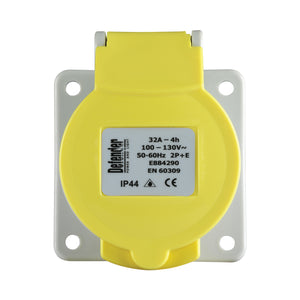 32A Panel Socket - Yellow 110V