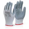 Nitrile Foam Polyester Glove Grey