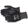 Emerald Cx Nylon/stainless-steel Cut-resistant String-knit Glove With Nitrile Palm Black