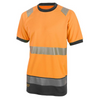 Hivis Two Tone Short Sleeve T Shirt Orange / Black