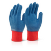 Latex Fully Coated Gripper Glove Blue