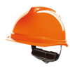 V-gard 520 Peakless Safety Helmet Orange