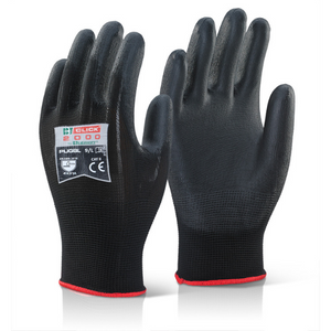 PU Coated Gloves Black