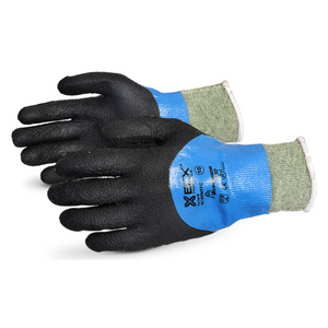 Emerald CxÌ_Ìâ Liquid Proof KevlarÌ_Ìâ/wire-core Gloves With Full Micropore Nitrile Coating Black
