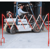 Steel Expandable Barrier, Red/White - Tidi-Cable Products