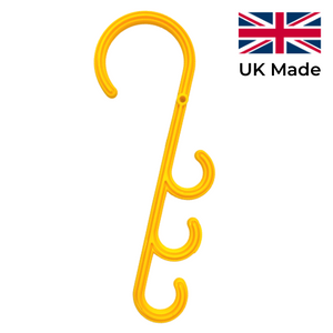 Yellow Cable Hooks (Pack of 10)