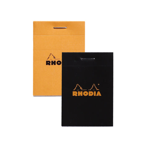 Rhodia BLACK head stapled pad No.11 7,4x10,5cm 80sh. sq.5x5 80g