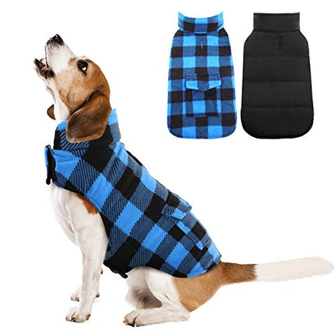 Kuoser Plaid Dog Winter Coat