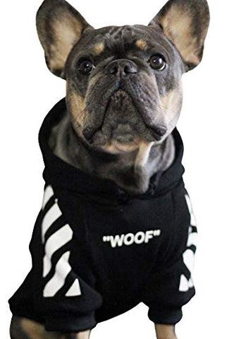 Woof Dog Hoodie Fashion Outfit for Dog